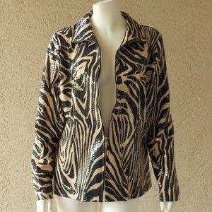 Black & Tan Zebra Print Designer Jacket